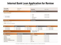 Internal Bank Loan Application For Review
