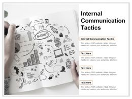 Internal Communication Tactics Ppt Powerpoint Presentation Ideas Show Cpb