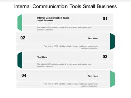 Internal Communication Tools Small Business Ppt Powerpoint Presentation Summary Picture Cpb