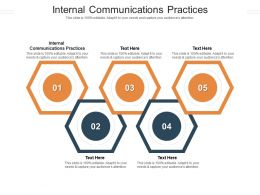 Internal Communications Practices Ppt Powerpoint Presentation Ideas Outfit Cpb