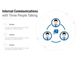 Internal Communications With Three People Talking