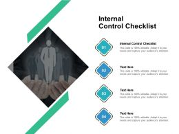 Internal Control Checklist Ppt Powerpoint Presentation Outline Clipart Cpb