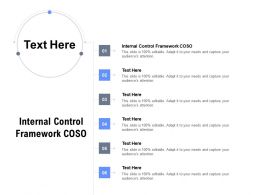Internal Control Framework Coso Ppt Powerpoint Presentation Files Cpb
