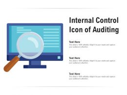 Internal Control Icon Of Auditing