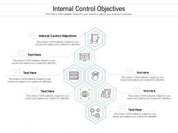 Internal Control Objectives Ppt Powerpoint Presentation Infographics Grid Cpb