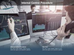 Internal Control Procedure Ppt Powerpoint Presentation Portfolio Show Cpb