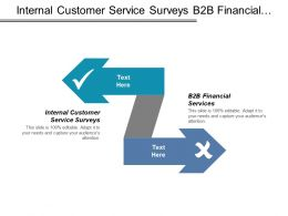 Internal Customer Service Surveys B2b Financial Services Strategic Models Cpb