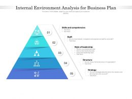 Internal Environment Analysis For Business Plan