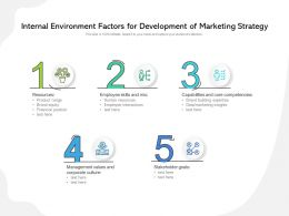 Internal Environment Factors For Development Of Marketing Strategy