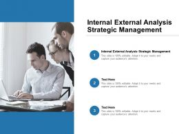 Internal External Analysis Strategic Management Ppt Powerpoint Presentation Styles Cpb