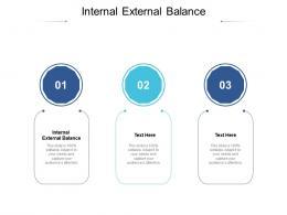 Internal External Balance Ppt Powerpoint Presentation Icon Elements Cpb
