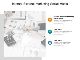 Internal External Marketing Social Media Ppt Powerpoint Presentation Infographics Backgrounds Cpb