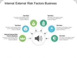 Internal External Risk Factors Business Ppt Powerpoint Presentation Icon Master Slide Cpb