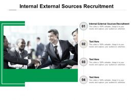 Internal External Sources Recruitment Ppt Powerpoint Presentation Portfolio Show Cpb