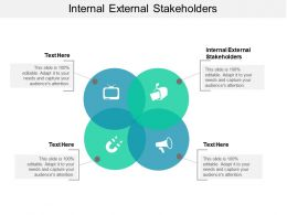 Internal External Stakeholders Ppt Powerpoint Presentation Slides Vector Cpb