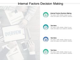 Internal Factors Decision Making Ppt Powerpoint Presentation Infographic Template Cpb