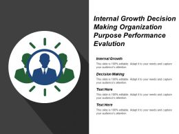 Internal Growth Decision Making Organization Purpose Performance Evolution
