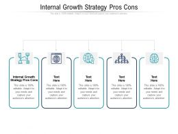 Internal Growth Strategy Pros Cons Ppt Powerpoint Presentation Show Background Image Cpb