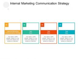 Internal Marketing Communication Strategy Ppt Powerpoint Presentation Show File Formats Cpb