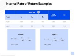 Internal Rate Of Return Examples Management Marketing Ppt Powerpoint Presentation Show Gridlines