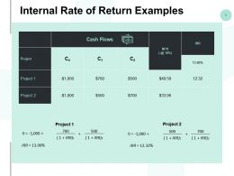 Internal Rate Of Return Examples Ppt Powerpoint Presentation Styles Outfit