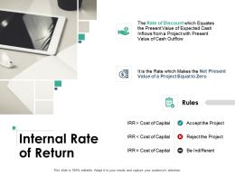 Internal Rate Of Return Ppt Powerpoint Presentation Portfolio Graphics