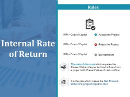 Internal Rate Of Return Ppt Slides