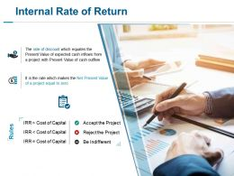 Internal Rate Of Return Ppt Slides Example
