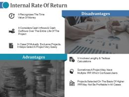 Internal Rate Of Return Ppt Topics