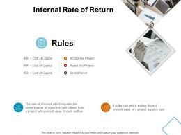 Internal Rate Of Return Rules Ppt Powerpoint Presentation File Formats
