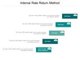Internal Rate Return Method Ppt Powerpoint Presentation Layouts Background Images Cpb