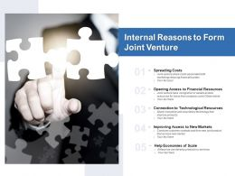 Internal Reasons To Form Joint Venture