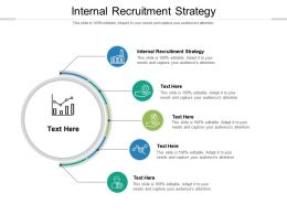 Internal Recruitment Strategy Ppt Powerpoint Presentation Styles Show Cpb