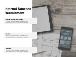 Internal Sources Recruitment Ppt Powerpoint Presentation Portfolio Smartart Cpb