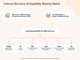 Internal Structure Of Capability Maturity Matrix Ppt Powerpoint Presentation Pictures