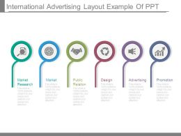 International Advertising Layout Example Of Ppt
