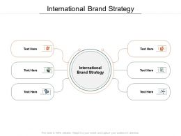 International Brand Strategy Ppt Powerpoint Presentation Infographics Graphics Download Cpb