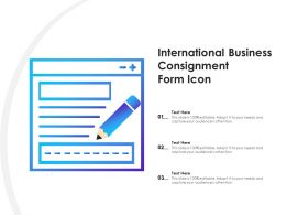International Business Consignment Form Icon