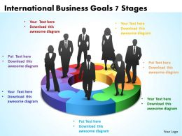 International Business Goals 7 Stages Powerpoint Templates ppt presentation slides 812