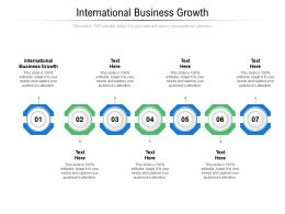 International Business Growth Ppt Powerpoint Presentation Pictures Example Introduction Cpb
