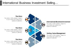 International Business Investment Selling Sales Management Retail Management Cpb