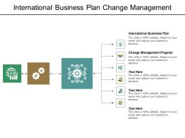 International Business Plan Change Management Program Transformational Leadership Cpb
