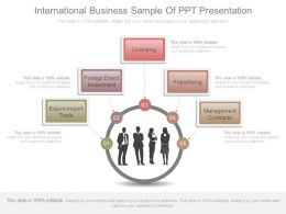 International Business Sample Of Ppt Presentation