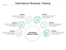 International Business Training Ppt Powerpoint Presentation Design Ideas Cpb