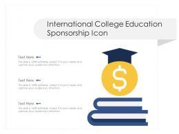 International College Education Sponsorship Icon