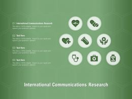International Communications Research Ppt Powerpoint Presentation Styles Visual Aids
