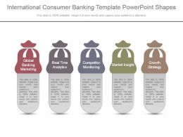 International Consumer Banking Template Powerpoint Shapes