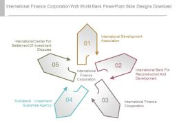 International Finance Corporation With World Bank Powerpoint Slide Designs Download