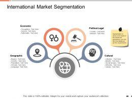 International Market Segmentation Economic Ppt Powerpoint Presentation Layouts Brochure