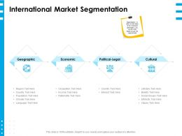 International Market Segmentation Ppt Powerpoint Presentation Layouts Pictures